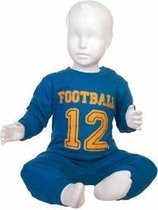 Fun2Wear Football Pyjama Blauw maat 98