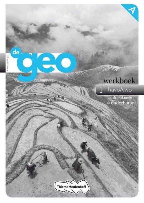 De geo / 1 Havo/vwo Aardrijkskunde voor de onderbouw / deel Werkboek B - ten Brinke |