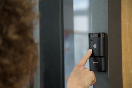 Alecto DVC-1000 Wifi deurbel met camera - Monitor je deurbel wereldwijd met gratis app - Antraciet - Alecto