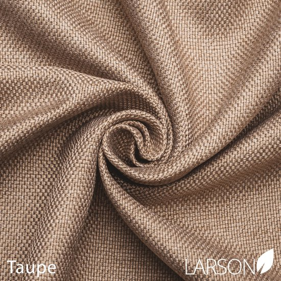 Larson - Luxe geweven blackout gordijn met ringen – taupe  1.5x2.5m – Verduisterend & kant en klaar – per stuk