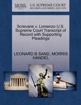 Screvane V. Lomenzo U.S. Supreme Court Transcript of Record with Supporting Pleadings