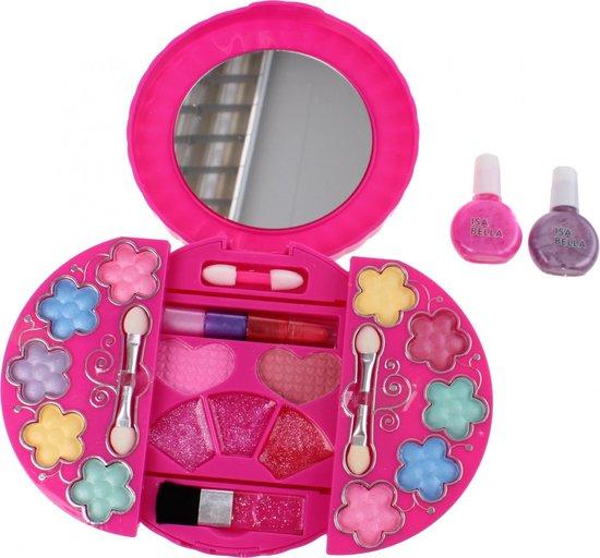 Isabella make-up set in ronde doos met spiegel