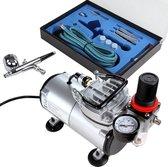 Timbertech ABPST05 Airbrush compressor set - met airbrush pistool