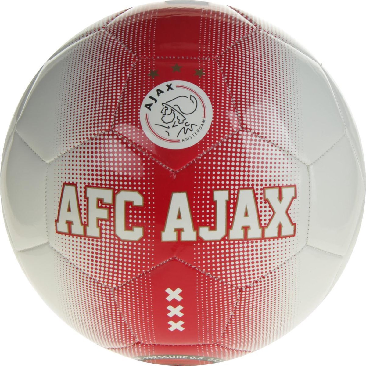 Ajax Bal  Spikkels - Rood/Wit - AFC Ajax