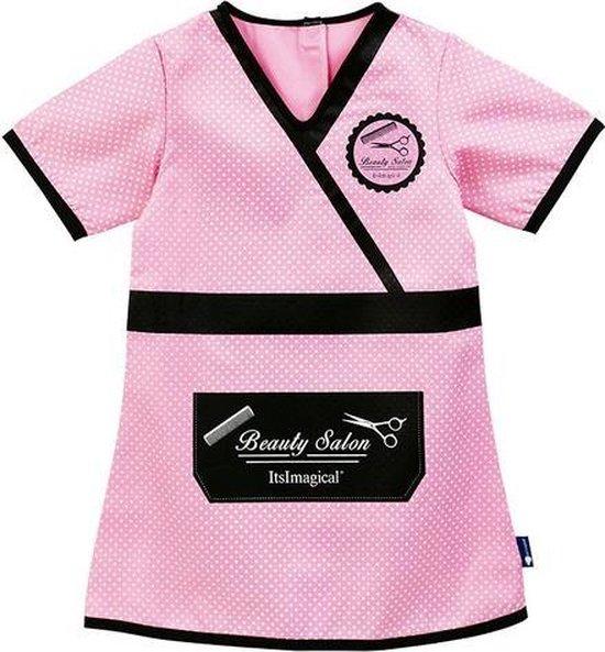 Imaginarium - STYLIST SUIT - Verkleedjurk Beauty Salon - Kappersschort Roze - One Size - 3 tot 6 jaar