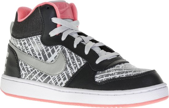 Fruity tail for example  bol.com | Nike Court Borough Mid Print (GS) Sportschoenen - Maat 38 -  Meisjes - grijs/zwart/roze