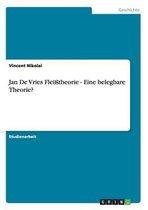 Omslag Jan De Vries Fleisstheorie - Eine belegbare Theorie?