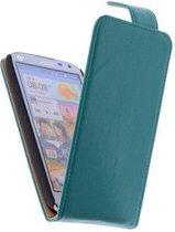 Classic Groen HTC Desire 210 PU Leder Flip Case Hoesje