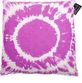 In The Mood Tie & Dye - Sierkussen - 50x50cm - Fuchsia