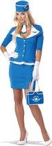 """Sexy blauw stewardess kostuum voor vrouwen  - Verkleedkleding - XL"""