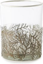 Riviera Maison - Juniperus Leaf Votive M - Waxinelichtjeshouder - Goud - Glas