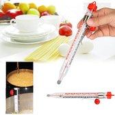 Analoge Voedselthermometer - Frituurthermometer - Thermometer Voor Vloeistof / Suiker / Frituur - Vloeistofthermometer Temperatuurmeter Met Klem
