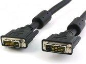 Techly DVI-D Dual-Link Kabel St/St met Ferrit zwart 3m