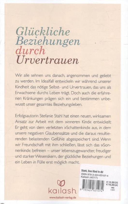 Bol Com Das Kind In Dir Muss Heimat Finden Stefanie Stahl 9783424631074 Boeken