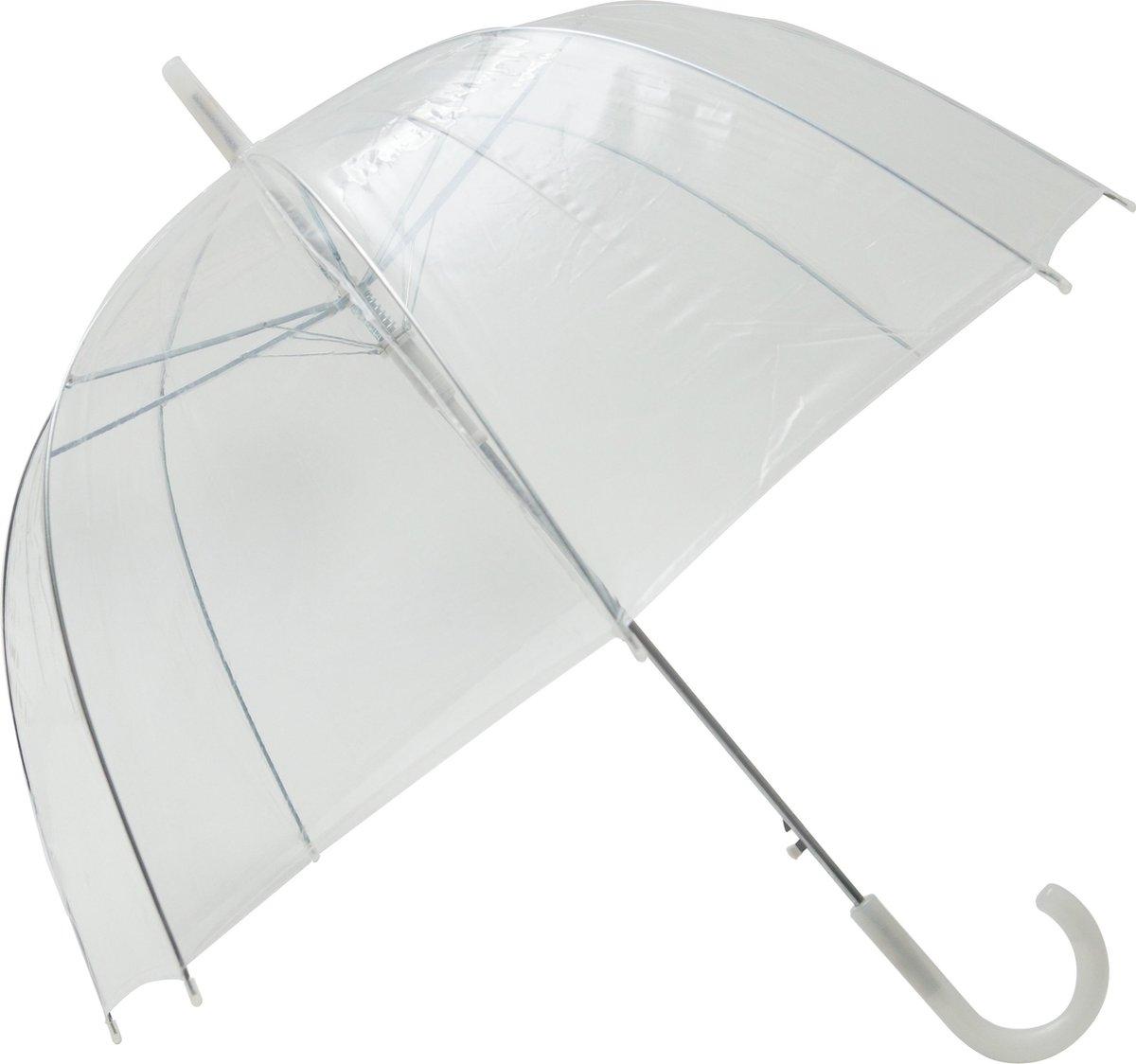 Smati Transparant Basic Paraplu   85cm - Wit