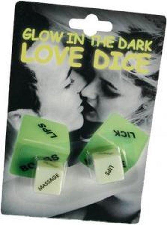Afbeelding van het spel Glow in the dark love dobbelsteen