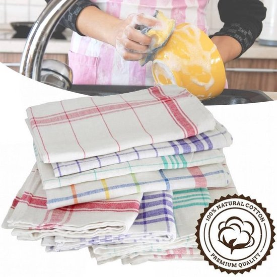 Lifetime Clean 10-Pack Theedoeken - 45 x 70 cm - Katoen / Polyester