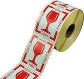SendProof® Etiket, Papier, Glas, 80x100mm, wit
