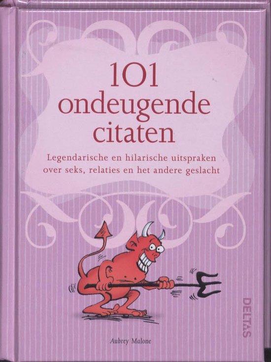 Cover van het boek '101 ondeugende citaten' van M. Aubreu