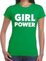 Girl Power tekst t-shirt groen dames - dames shirt  Girl Power L