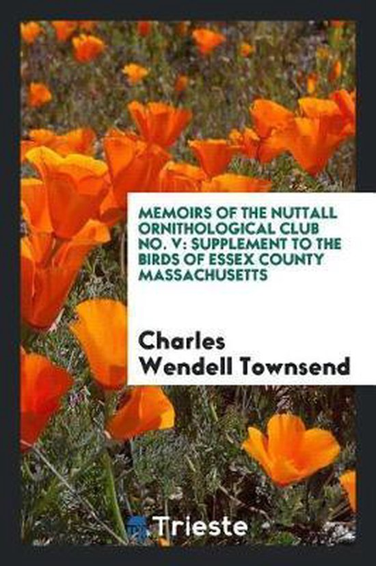 Memoirs of the Nuttall Ornithological Club No. V