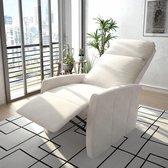 Fauteuil elektrisch sta-op-stoel kunstleer wit (incl. vloerviltjes)