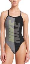 Nike Swim Racerback One Piece Dames Badpak - Black - Maat 38