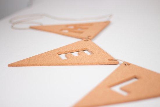 Letter slinger met vlag kurk 5 stuks