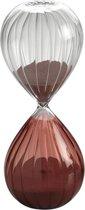 Mascagni - Glazen 2-kleurige zandloper transparant / fuchsia 8 x 20 (h.) cm doorlooptijd 30 minuten - 00 O1383