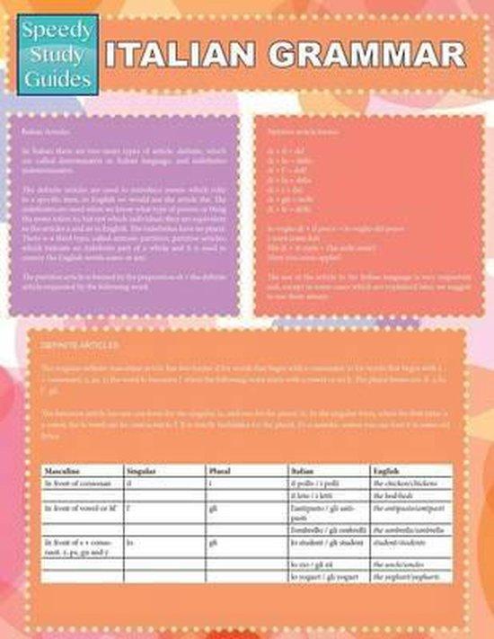 Italian Grammar (Speedy Study Guides