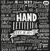 Boek Handlettering doe je zo! + Oefenblok Papier Wit/recyling Bruin en Zwart A4 + 1 Reeves A4 Oefenblok, Zwartpapier.