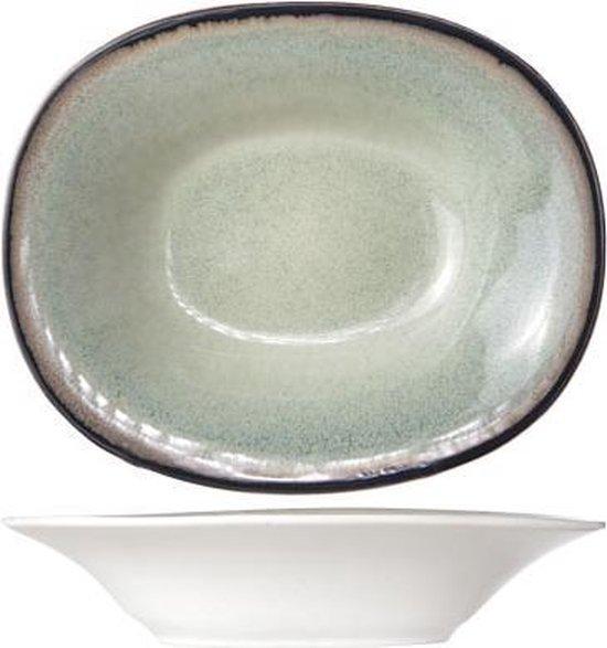 Cosy&Trendy Fez Diep Bord - Ovaal - 17.5x21.5 cm - 6 stuks - Green