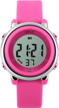 West Watch - digitaal kinder horloge - meisjes - LED - model Star – roze