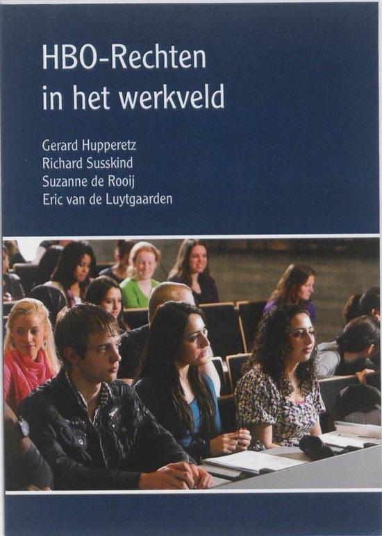 Cover van het boek 'HBO-Rechten in het werkveld / druk 1' van G. Hupperetz