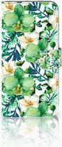Huawei P Smart 2019 Uniek Bookcase Hoesje Orchidee Groen