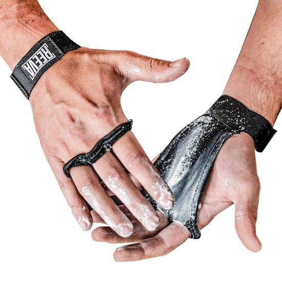 Reeva kangaroo grips crossfit handschoenen - Geschikt voor Fitness en CrossFit - Leer - Large