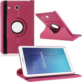 Samsung Galaxy Tab E 9.6 Inch SM - T560 / T561 Hoes Cover 360 graden draaibare Case Roze