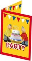 16x Buurman en Buurman themafeest uitnodigingen/kaarten - Kinderfeestje/verjaardag artikelen