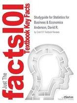 Boek cover Studyguide for Statistics for Business & Economics by Anderson, David R., ISBN 9781305778412 van Cram101 Textbook Reviews