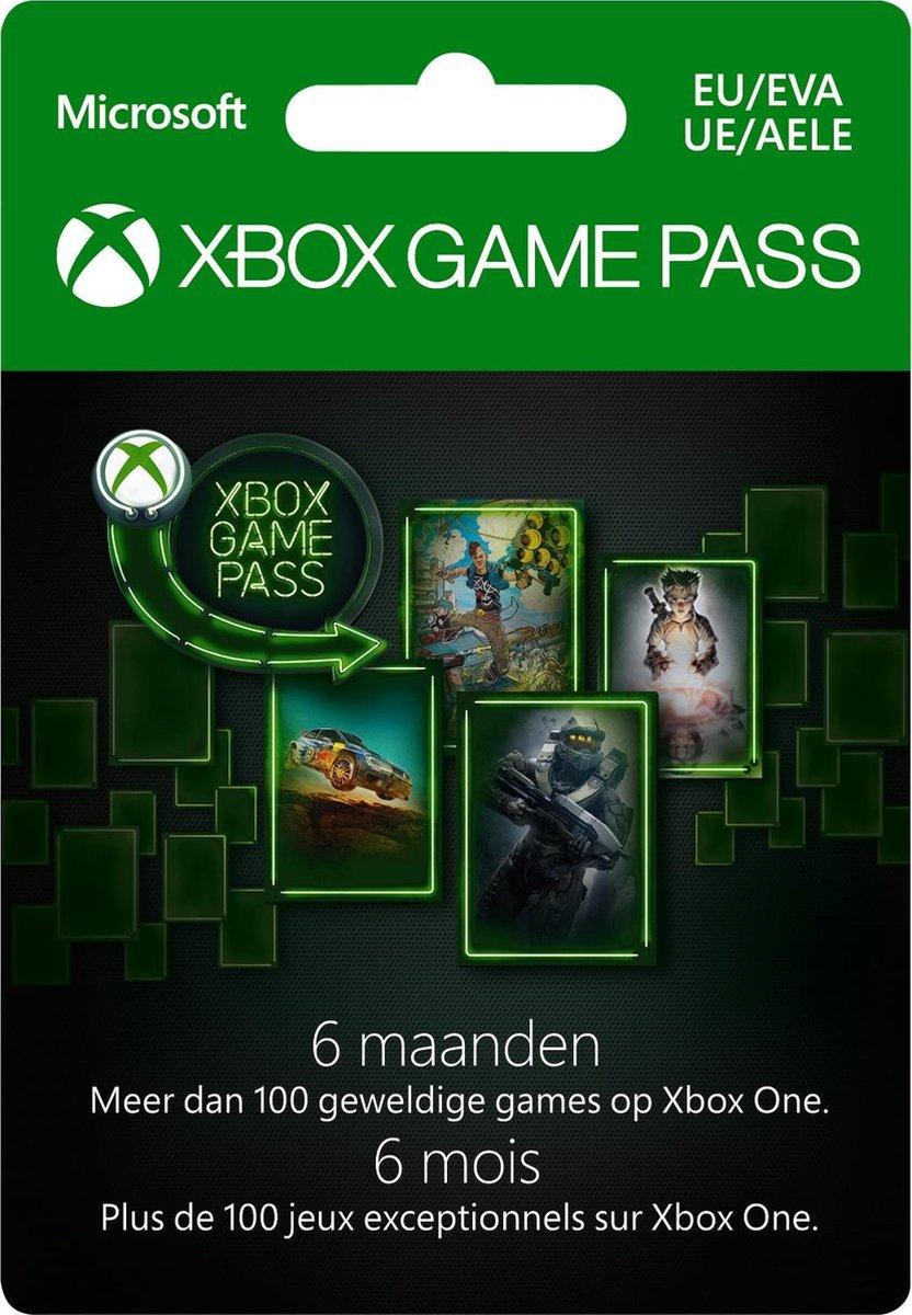 Microsoft Xbox Game Pass - 6 Maanden Abonnement - Xbox One