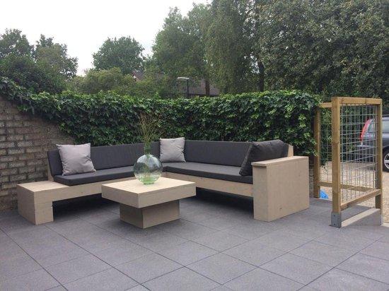 Mooie steigerhouten loungeset