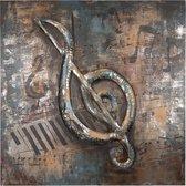 Wanddecoratie muzieksleutel 80*80*4 cm Multi | 5WA0125 | Clayre & Eef