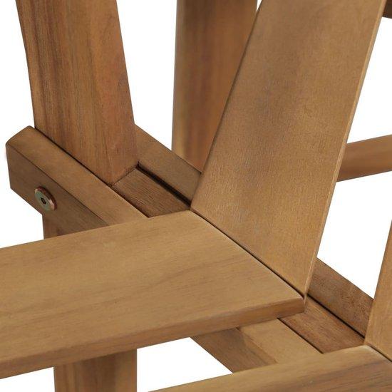 vidaXL Boombank zeshoekig 160x80x86 cm massief acaciahout