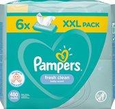 Pampers Fresh Clean billendoekjes XXL - 6 x 80 Stuks (480 stuks)