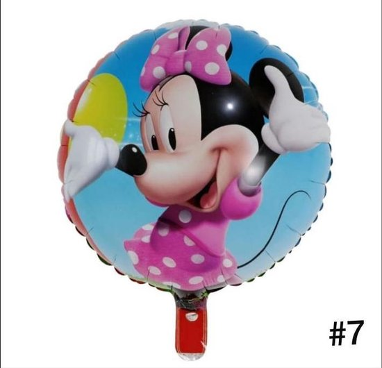 Disney Mickey of Minnie Mouse Folieballon dubbelzijdig/Verjaardag/Feest/Folieballon(7)