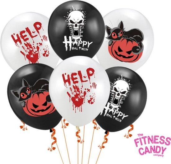 Happy Halloween ballonnen - Set van 6 enge ballonnen