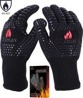 XAMAX® BBQ handschoenen - Ovenwanten - Hittebestendige handschoen - bbq accessoires - tot 500°C - Ovenhandschoenen - 2 stuks