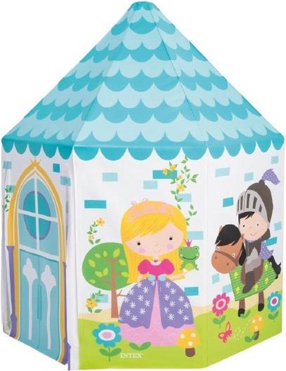 speeltent Princess junior 130 x 104 cm vinyl blauw