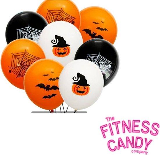 Halloween ballonnen - Set van 6 [Vleermuizen / Spinnenweb / Pompoenhoofd]