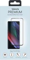 Selencia Gehard Glas Premium Screenprotector voor de Oppo Find X3 Neo - Zwart